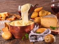 Рецепта Картофено алиго (пюре) със сирене моцарела и готварска сметана